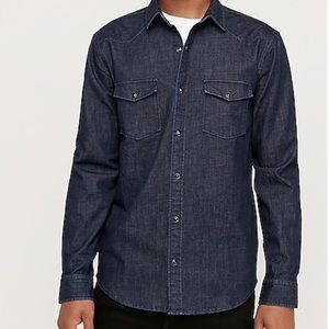 Express Denim Slim Western shirt L